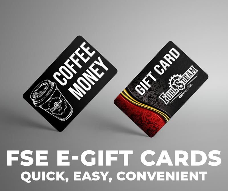 Coffee Twin Falls Idaho Full Steam Espresso E-gift cards